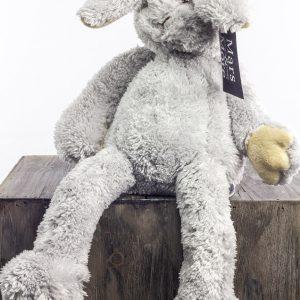 konijn knuffel grijs