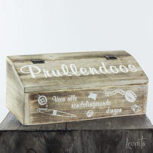Prullendoos hout