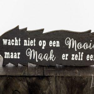 Woodart Hout Tekst Decoratie
