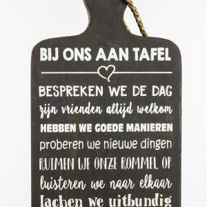 Tafel Woodart Tekstplank Decoratie