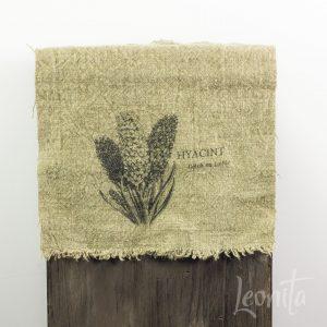 Hyacint Shabbydoek 100% linnen Voorjaar