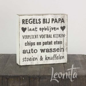 papa woodart tekstbordje