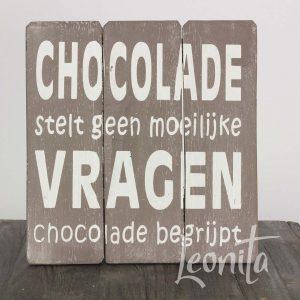 Tekst Chocolade Tekstbordje