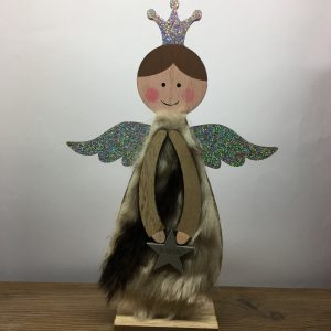 Hout Engeltje Sfeerdecoratie Kerst