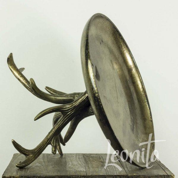 Gebakschaal Sfeer Gewei Decoratie Gunmetal