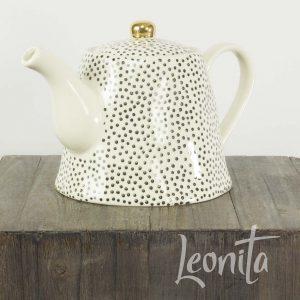 Theepot Stipje Thee High Tea Verzamelen Zwart- Wit Keuken