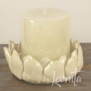 Lotus Kaars Sfeerlicht Creme Kado