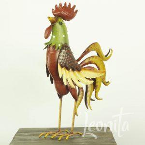 Haan Rody Metaal Decoratie Kippenhok