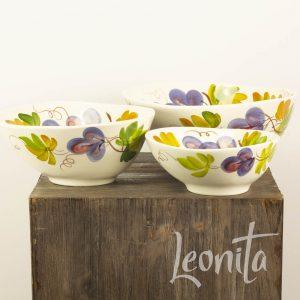 Druiven Sfeer vItaliaans Druif Handgemaakt Fruitschaal