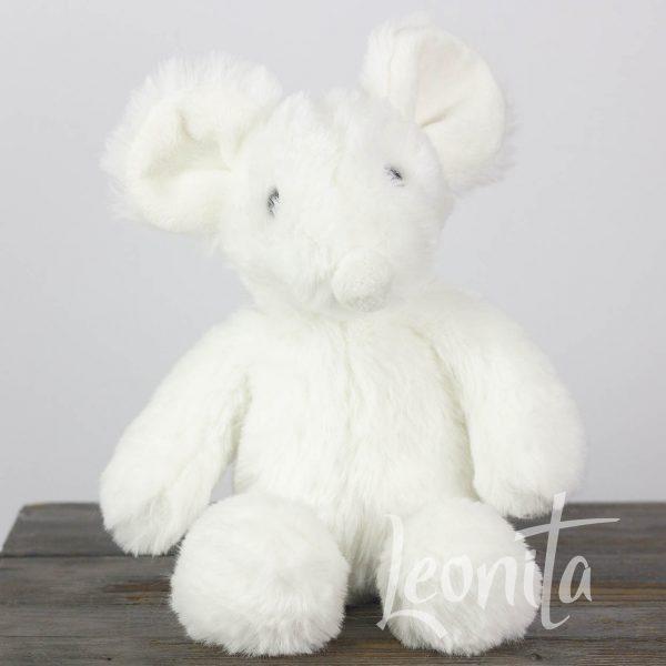 Muis Knuffel Wit Babyshower Geboorte Cadeau