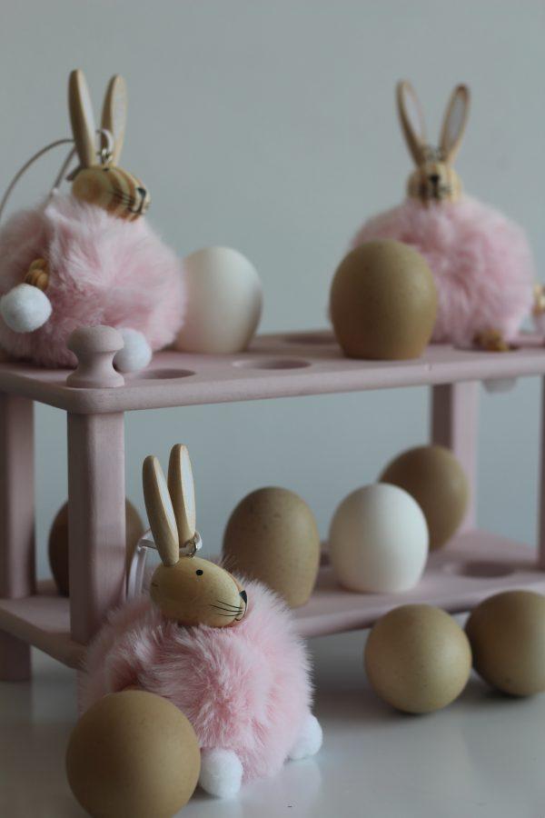 Pasen Voorjaar Fluffie Konijn Roze Ei