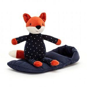 Jelllycat Snuggler Fox Vos Knuffel Slaapzak