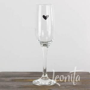 Hartje Sfeer Glas Champagne