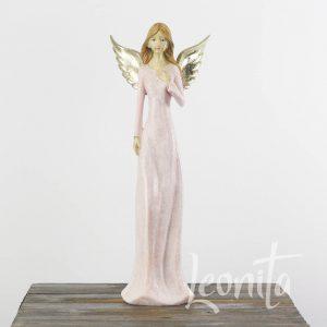 Engel Slank Roze Vleugels Zilver Kerst