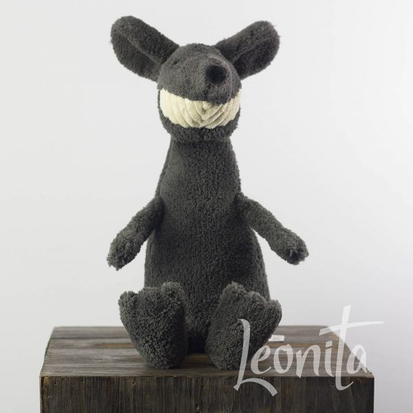 Thooty Rat Jellycat Grijs Badstof Smile